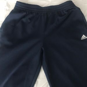Boys Navy Blue Adidas pants XL/18